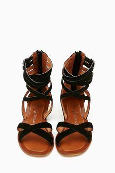 80063b309 Romana Gladiator Sandal - I ll take a pair! - JANE Flat Sandals