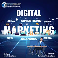 #Digital_Marketing_Services Are you ready to see what our digital marketing services can do for your business? Contact us. 👉 marketing@3webcraft.com Digital Media Marketing, Digital Marketing Services, Business Contact, Partner, Branding, Technology, Socialism, Tech, Tecnologia