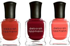 Deborah Lippmann Nail Lacquers: Supermodel, Lady Is A Tramp, Girls Just Want to Have Fun,