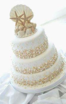Beach wedding cakes!