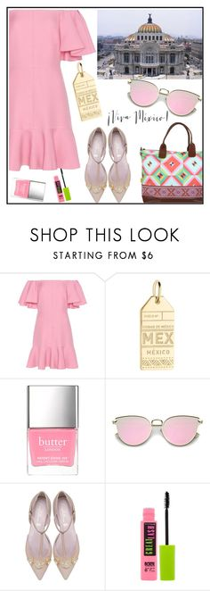 """""""Mexico City Travel Outfits"""" by tlb0318 on Polyvore featuring Valentino, Jet Set Candy, Maybelline and Kalencom"""