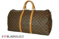 Authentic Louis Vuitton Monogram Keepall 55 Bag Boston Duffle Free Shipping! #LouisVuitton #BostonBag