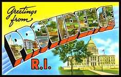 Greetings From Providence Rhode Island  -  We have over 100 vintage postcards that can be printed as posters, notecards, T-Shirts, tote bags, pillows, cell phone covers, beach towels and a lot more really fun and exciting products! Check them all out, collect them all! Visit FASGallery.com