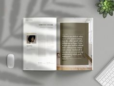 Minimalist Magazine Vol. House Architecture Styles, Creative Flyers, Book And Magazine, Magazine Template, Love Design, Layout, Magazine Design, Booklet, Swatch