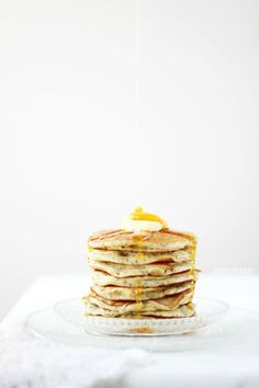 poppy seed and lemon pancakes