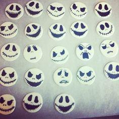 Jack Skellington fondant cupcake toppers!                                                                                                                                                      More
