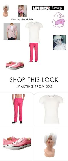 """"""" underswap mettaton """" by honeyswamp ❤ liked on Polyvore featuring Versace, Converse, men's fashion and menswear"""