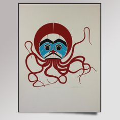 Large selection of limited edition Northwest coast Native art prints; First Nations prints, Native American prints Octopus Painting, Octopus Art, Native American Print, Canadian Art, Native Canadian, West Art, Indigenous Art, Native Art, Tribal Art