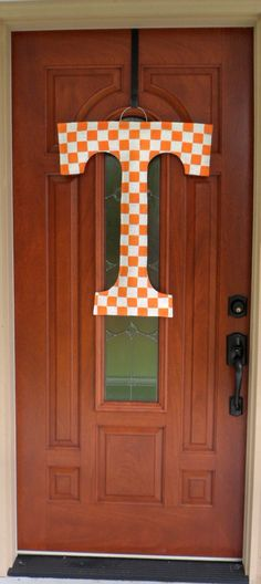 Tennessee Vols T Burlap Door and Wall Hanger by AllUniqueThings, $35.00