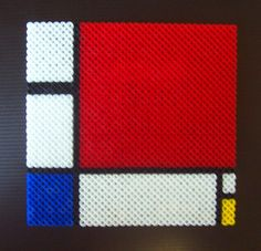 Piet Mondrian's Composition II in R, B, and Y perler beads by HDorsettcase on deviantart