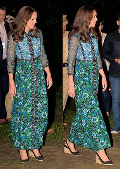 Kate in Anna Sui on Day 3 of India Tour 2016 Princess Kate, Princess Charlotte, Anna Sui, Duke And Duchess, Duchess Of Cambridge, Princesa Real, Princesa Kate Middleton, Prince William And Catherine, Kate Middleton Style
