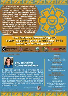 MUY INTERESANTE CURSO SOBRE CENTROS GERONTOLÓGICOS DESDE TOLUCA | Central Informativa del Adulto Mayor