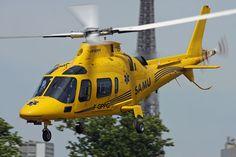 AW109 helicopter, SAMU 28, Photo : Stéphane Gimard