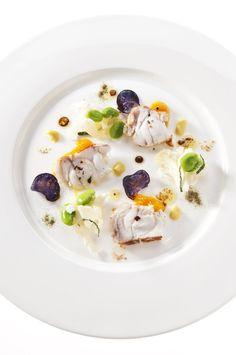 M<3 Rana pescatrice chutney di mango e insalata di fave e cavolfiori   Ristorante Sadler   Milan