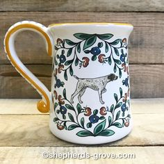 Hey, I found this really awesome Etsy listing at https://www.etsy.com/listing/490865917/german-shorthaired-pointer-mug-hand-made