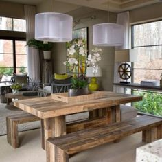 Superieur Green Home 2012: Dining Room Pictures. Rustic Dining Room TablesRustic ...