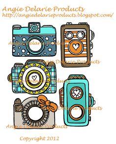 Old Vintage Camera's-  Photo Embellishments. $2.95, via Etsy.