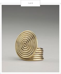 Spiral ring circa 1940. Works from the Collection of Ruth Horwich, including these exquisite pieces of Alexander Calder jewellery