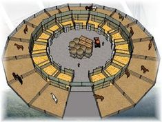 If you made it big enough, you could have a round pen in the m. If you made it big enough, you could have a round pen in the middle. – Noiseless Self-confidence Barn Layout, Horse Farm Layout, Horse Barn Designs, Horse Barn Plans, Horse Shelter, Horse Arena, Horse Ranch, Dream Barn, Dream Stables