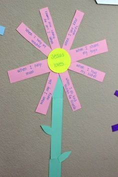 Prayer Garden - make a class flower with each child contributing an idea