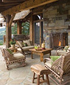 Outdoor patio living, SBC Builders, Bozeman, Montana