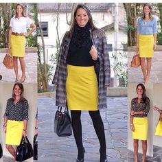 Mirceia Ramos #saia amarela inspiração