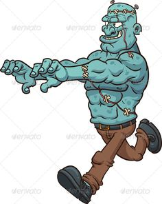 Running Frankenstein Monster
