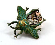 Steampunk Bee Brooch, Clockwork Bee Pin, Steampunk Bug on Etsy, $46.89 AUD