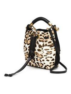 Chloé bolso tote con estampado de leopardo