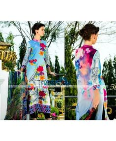 Tabassum Mughal Embroidered Lawn Collection Spring Summer 2015 By Al Azohaib