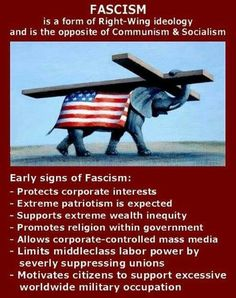 Actually if people examined history, fascism has been proven to be left wing ideology. Stop changing the definitions of words f*ckwits