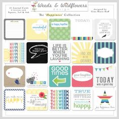 9510 - Happiness - Simple Squares #23 & Journal Cards