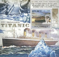 Mozambique 2011 Stamp MOZ11610B 100th ANN OF Titanic Ship Boat Transport | eBay