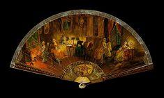 Brisé fan Date: 1790–1820 Culture: French Medium: Ivory, paper, tortoiseshell