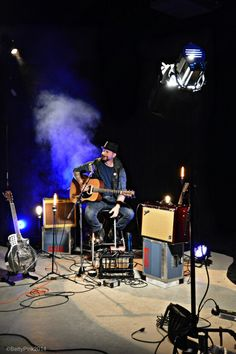 Sean Poluk live video performance.  Photo credit Betty Pink