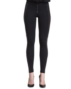 Ponte/Leather Combo Leggings at CUSP.