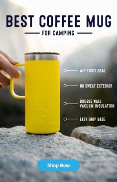 There is no better way to start a good morning camping than with hot coffee! Our 12 oz. Travel Mugs are the best way to serve your hot pour over or instant brew while camping or sitting outdoors! Shop all of the colors here! Camper Life, Rv Life, Best Coffee Mugs, Hot Coffee, Camping Survival, Camping Gear, Outdoor Fun, Outdoor Camping, Roman Clock