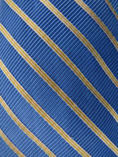 BROOKS BROTHERS Makers Blue/Yellow Diagonal Striped Textured Woven Silk Neck Tie #BrooksBrothers #Tie