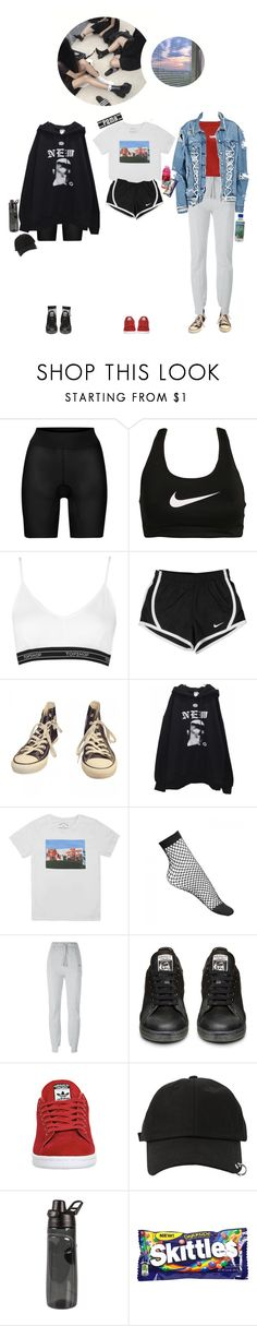 """""""ー Mingi, Mikyung & Yoonseo: at the dance practice"""" by gg-hx ❤ liked on Polyvore featuring Wolford, NIKE, Topshop, Converse, Marc Jacobs, Vetements, adidas, StyleNanda, River Island and Puma"""