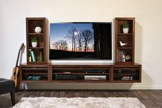 Mounted tv stands brilliant floating entertainment center wall mount tv stand eco geo mocha within 8 Entertainment Shelves, Floating Shelves Entertainment Center, Entertainment Centers, Floating Tv Console, Floating Tv Stand, Floating Wall, Wall Mounted Tv Unit, Wall Units, Mounted Shelves