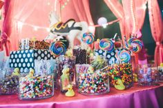 Big Top Wedding Candy Buffet