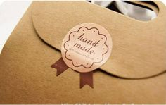 Handmade Sticker Label For Baked Goods by kayniskreations on Etsy, $2.00