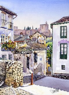 Granada Painting - Old Granada by Margaret Merry