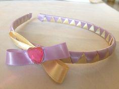 Serre-tête fête violet jaune avec un papillon coeur : Accessoires coiffure par bellpepper