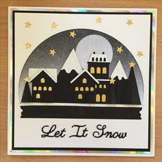 Christmas card Tim holtz sizzix snow globe