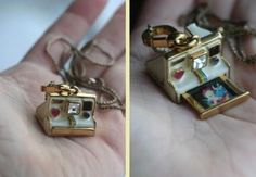 A POLAROID LOCKET?! So much adorable thats happening right now...