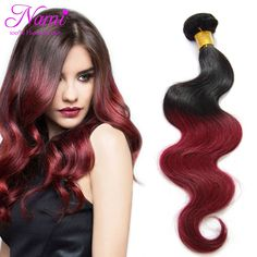 "Aliexpress.com : Buy Grade 6A Ombre Brazilian Human Hair Weaves Body Wave 3 Bundles Two Tone Color T1B/Burgundy  Mixed 12"" 26"" Fast Shipping By DHL from Reliable weave hair brands suppliers on Guangzhou Nami hair products co., LTD"