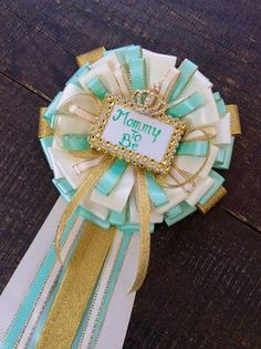 Mint and gold mommy to be pin-mint and gold Baby shower - mint and gold baby shower- green mint baby shower-Mommy to be corsage- mint and go by Marshmallowfavors on Etsy https://www.etsy.com/listing/236698543/mint-and-gold-mommy-to-be-pin-mint-and