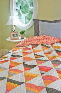 @Lissa Alexander 's Candy Corn Quilt Kit is available in our store! It's never too early for candy corn! #modafabric #bellasolids #halloween #orange