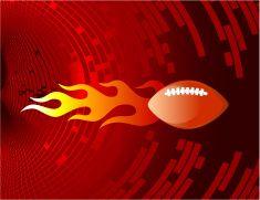 Football on abstract Background vector art illustration